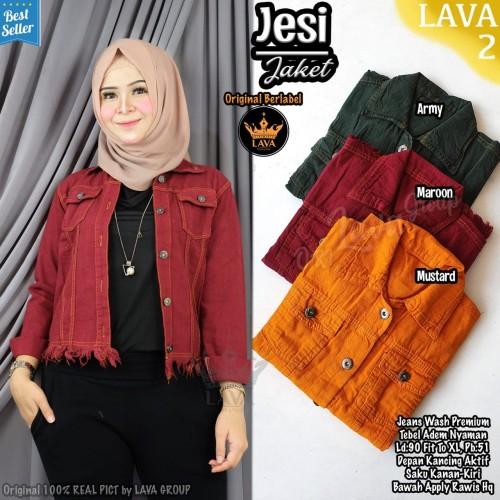 Foto Produk New Jesi Jacket Jeans Warna Jaket Wanita Terbaru Modis Kekinian Murah dari Ilyassa Shop