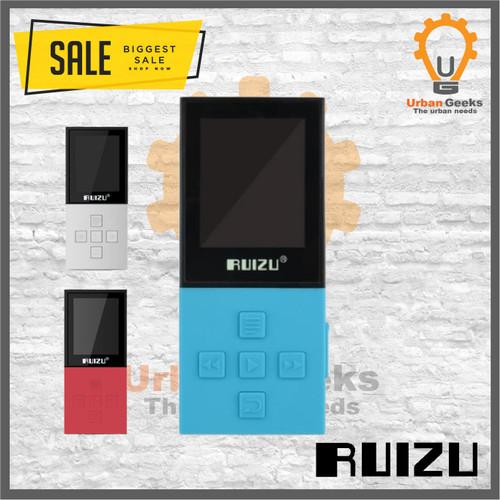 Foto Produk RUIZU X18 Bluetooth 8GB Memory MP3 Digital Player ORIGINAL alt X02 X50 - Biru dari Urban Geeks