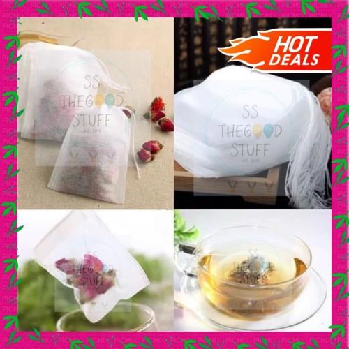 Foto Produk Paper Bag Tea 100 PCS/ Kantong Teh Celup / Filter Kertas Teh dari SS TheGoodStuff