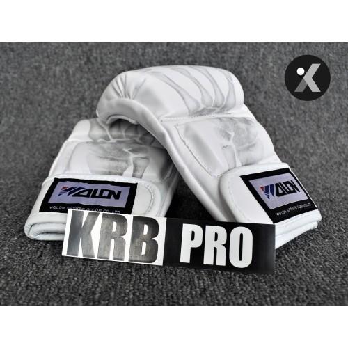 Foto Produk Pro MMA Hand Gloves / Sarung Tangan Tinju MMA Premium Merk Wolon PUTIH dari KRB Pro