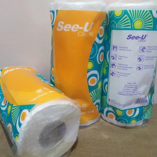 Foto Produk Tisu Dapur See-U Serap Minyak Tissue SeeU Kitchen Towel Roll Classic dari EKA ATK