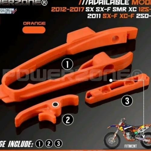 Foto Produk Chain Slider Sliding Swingarm Guide with Brake Hose Clamp for KTM dari jayautama85
