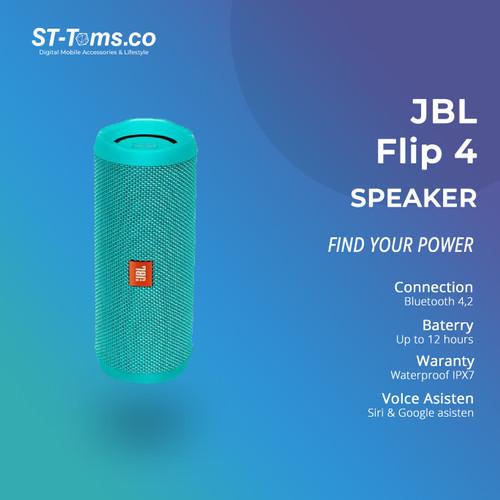 Foto Produk JBL Bluetooth Speaker Flip 4 - Black - Teal dari ST-Toms.co