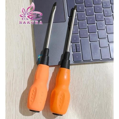Foto Produk (1kg=9pcs) Obeng Gagang Karet 4 nich-screwdriver-sakura - kata dari sosoyo