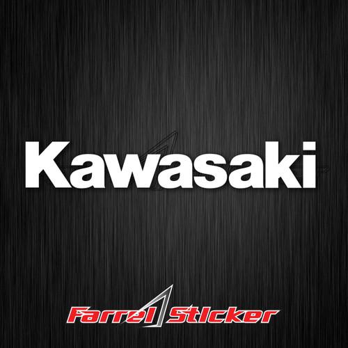 Foto Produk stiker KAWASAKI sticker KAWASAKI all size - Putih, 10 cm dari farrel sticker