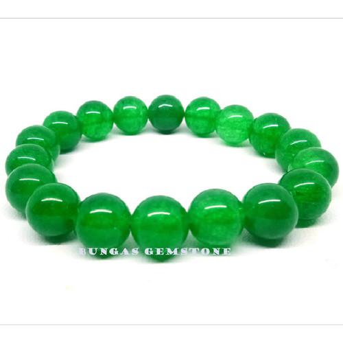 Foto Produk G8610 Gelang Batu Giok Hijau - Bracelet Green Jade - 8 MM dari Bungas Gemstone