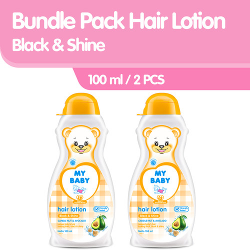 Foto Produk MY BABY Hair Lotion Black & Shine Bundle Pack [100mL/2] dari Tempo Store Official