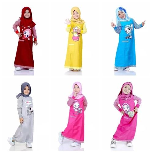 Foto Produk BAJU MUSLIM ANAK/GAMIS ANAK/GAMIS ANAK MURAH/DRESS ANAK - M, Abu-abu dari AKBAR Moslemwear