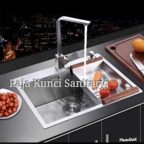Foto Produk Paket Lengkap+Keran Kitchen Sink Onan Golden Hand 6045 Stainless 304 dari Raja Kunci Sanitary