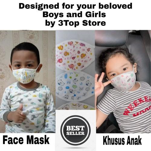 Foto Produk Masker Non Medis Khusus Anak-Anak Bahan Lembut dan Aman Untuk Anak dari 3Top Store