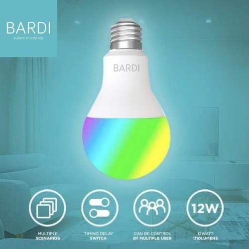 Foto Produk BARDI Smart Light Bulb Lamp Bohlam LED WIFI RGBWW 12W 12 watt Home IoT dari infitechindo