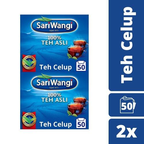 Foto Produk Sariwangi Teh Celup Hitam Asli isi 50pcs Twinpack dari Unilever Official Store