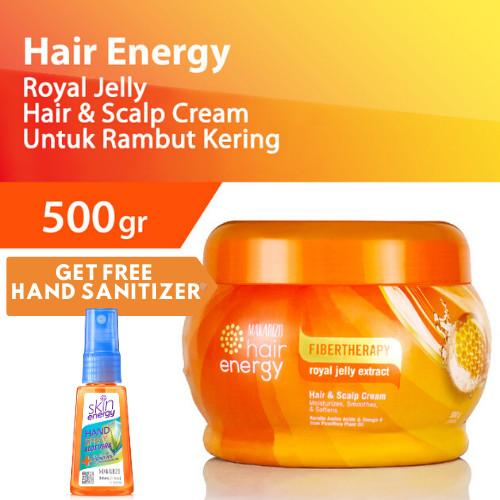 Foto Produk Makarizo HairEnergy HairScalp Creambath RoyalJelly 500g FREE SANITIZER dari Makarizo