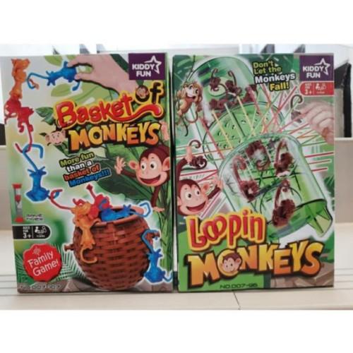 Foto Produk BUNDLING ORIGINAL KIDDY FUN: BASKET OF MONKEY + LOOPING MONKEY dari Duniakomik