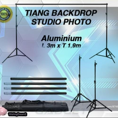 Foto Produk Bracket Stand 10ft untuk Backdrop Tiang Stand Background Foto Studio 3 dari WishingDream2