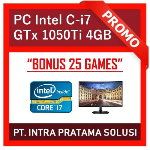 "Foto Produk PC Core i7-8700 + RAM 16GB DDR4 + SSD + Nvidia GTx 1050Ti + LED 22"" dari PT. Intra Pratama Solusi"