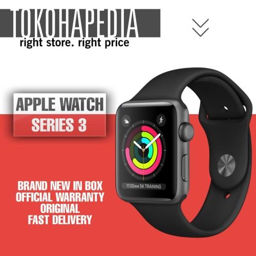 Foto Produk Apple Watch / iWatch Series 3 42mm Alumunium Black Sport Band - Space Gray dari tokohapedia