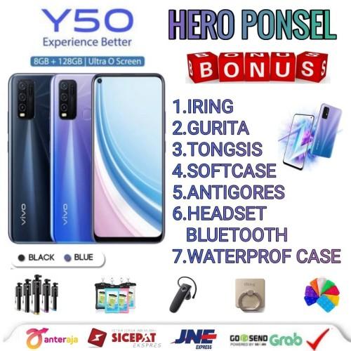 Foto Produk VIVO Y50 RAM 8/128 GB GARANSI RESMI VIVO INDONESIA - Hitam No Bonus dari HERO PONSEL.