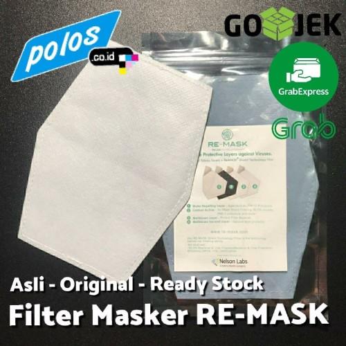 Foto Produk Isi Ulang Filter Masker RE-MASK Asli Setara Masker N95 - Ukuran JUMBO dari polos.co.id