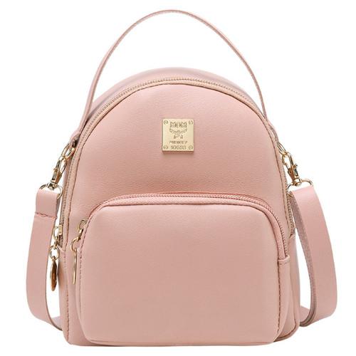 Foto Produk WB314 Tas Ransel Mini Wanita Import Mini Backpack MOM Import - Merah Muda dari One Of Kind Shop