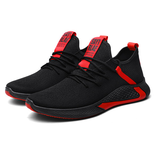 Foto Produk Techdoo Sepatu Sneakers Pria Import Casual Fashion Sepatu Lari MR114 - Hitam Merah, 40 dari Techdoo