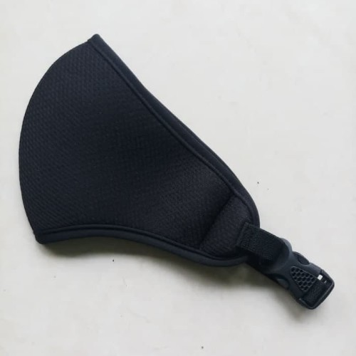 Foto Produk Masker Motor Hitam Polos Plus Pengencang Sodokan/Gesper dari TriMedia Shop