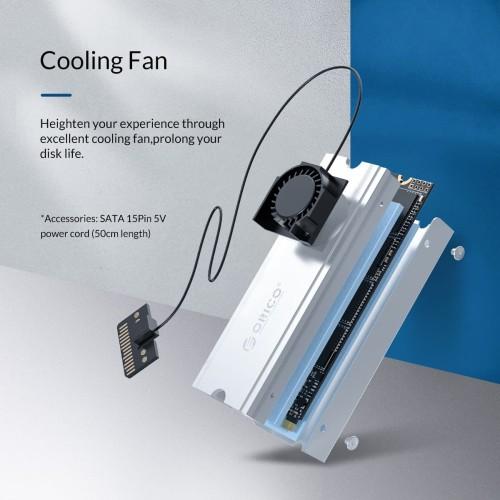 Foto Produk ORICO M.2 NVMe SATA HeatSink with Fan Aluminium - M2SRC - Biru dari ORICO INDONESIA