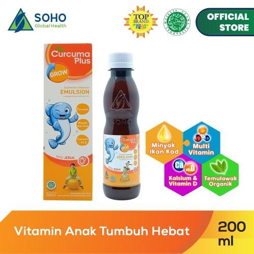 Foto Produk Curcuma Plus Grow Emulsion Syrup - Orange 200ml dari Soho Global