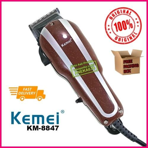 Foto Produk KEMEI KM 8847 MESIN ALAT CUKUR RAMBUT HAIR CLIPPER CUKURAN LISTRIK dari ANEKA 678