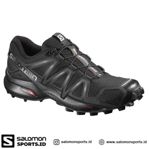 Foto Produk Salomon Speedcross 4 Sepatu Running Pria – Black - 7.5 dari Salomon Sports ID