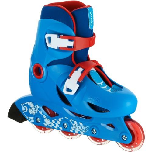 Foto Produk Oxelo Sepatu Roda Anak Pemula Play 3 Biru Decathlon - 8366197 - 30-32 dari Decathlon Indonesia