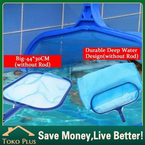 Foto Produk Kolam Renang Skimmer Net Sampah Pembersih Rake Mesh Leaf Jaring - Shallow dari Toko Plus ID