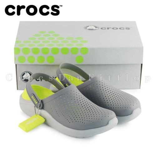 Foto Produk Crocs Literide Clog Sepatu Sandal Pria dan Wanita - Grey Green dari Crocs Dan Fitflop