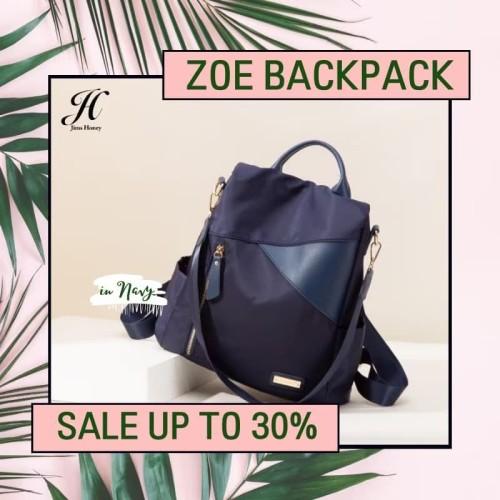 Foto Produk Tas Ransel Jims Honey Zoe Backpack - Biru dari J.COllection16