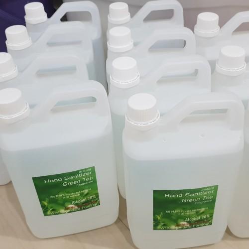 Foto Produk hand sanitizer 2 Liter aroma green tea, alcohol 70% dari SurabayaPlastik