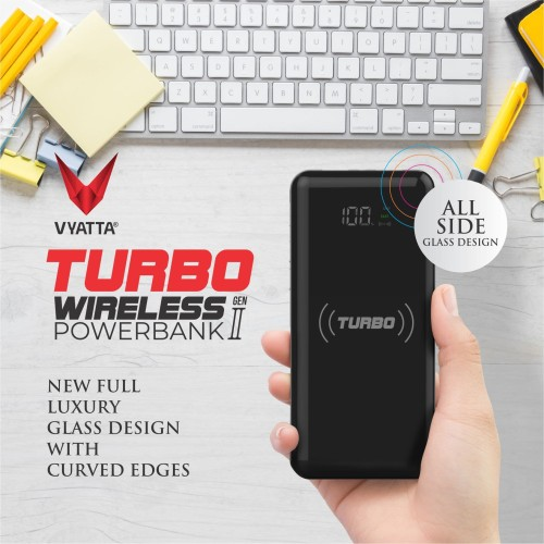Foto Produk VYATTA TURBO FAST WIRELESS Power Bank - 10W Wireless , QC3.0 & PD - Black dari VYATTA INDONESIA