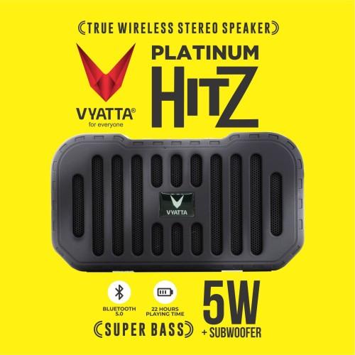 Foto Produk VYATTA Platinum Hitz TWS Speaker - Stereo, Bluetooth, USB/TF-MEGA BASS - Satin Silver dari VYATTA INDONESIA