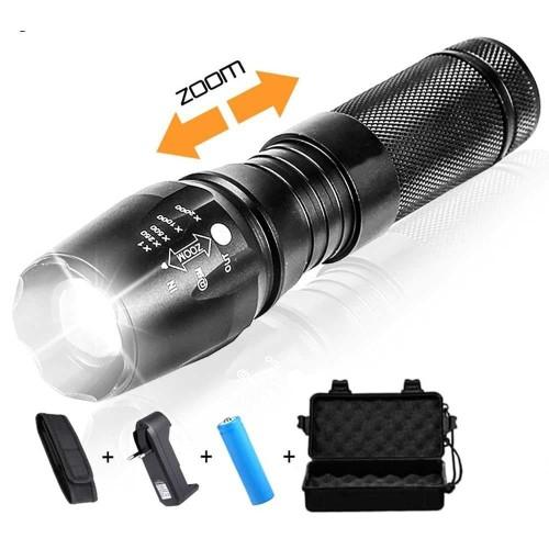 Foto Produk Paket Senter LED Cree XM-L E97 T6 26650 18650 AAAx3 + Charger + Box dari lbagstore