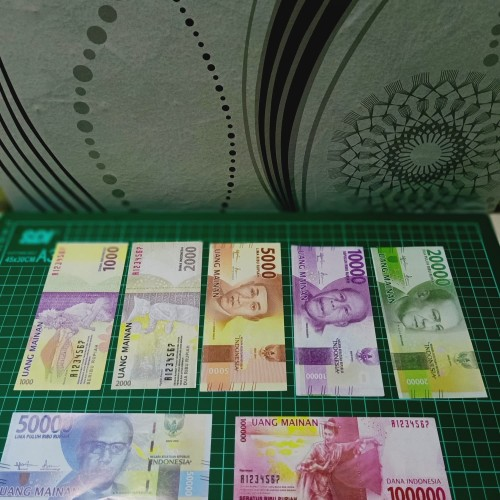 Foto Produk MAINAN UANG UANGAN ISI 1000 PCS / UANG PALSU DUIT DUITAN dari Fahmi toy's