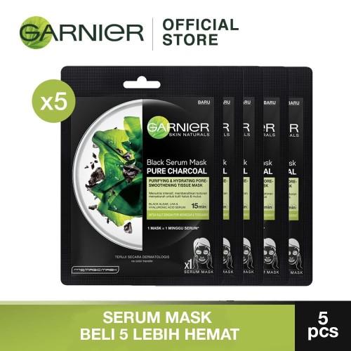 Foto Produk Garnier Serum Mask Black Algae Bundle dari Garnier Official