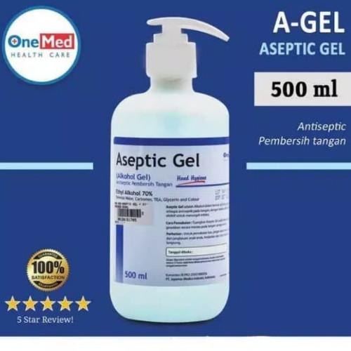 Foto Produk Aseptic Gel ONEMED Pump 500 ML dari JAshop88