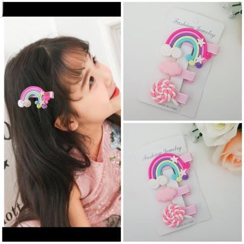Foto Produk 3 Pcs Jepit Rambut Model Lolipop Jepit Lollipop untuk Anak Terbaru J29 dari Star Gallery