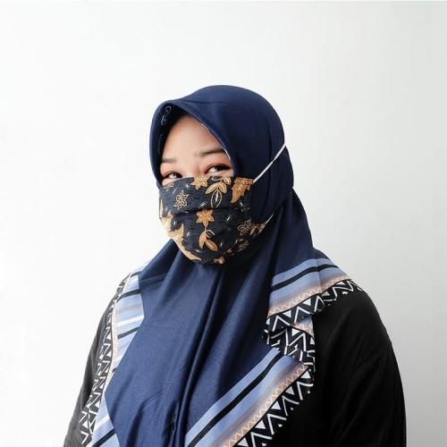 Foto Produk Masker Batik Hijab Water Repellent/ Anti Microbial 3 Ply dari AKSA BATIK