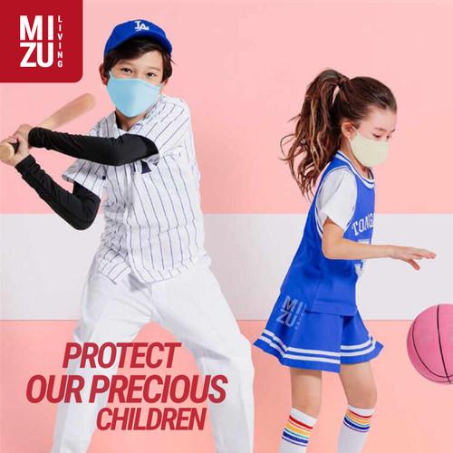 Foto Produk CHIBI3 Masker Kain ANAK KIDS 3Ply Water Repellent NON-MEDIS Cuci Ulang - CREAM, EXPANDABLE dari MIZU Living