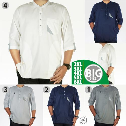 Foto Produk Baju Koko Pria Muslim Big Size Gamis Kemko Panjang Chiangi XXL XXXL - Putih, 4XL dari BAD-STORE