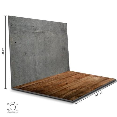 Foto Produk Alas Foto Lipat Semen & Kayu 42 x 30 cm / Background Foto (MIL-08) dari alasfotoprops