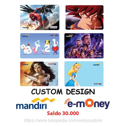 Foto Produk Emoney Etoll Mandiri Design Custom 2 SISI Saldo 30 ribu dari Winly Custom
