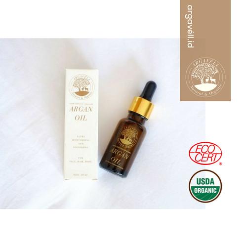 Foto Produk Argavell Certified Unrefined Argan Oil - 20ml - sourced from Morocco dari chaspuri