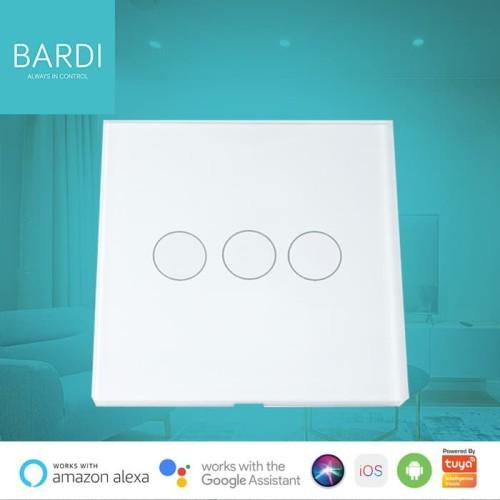 Foto Produk Bardi Smart WiFi Touch Wallswitch - EU 3 Gang - Putih dari Bardi Official Store