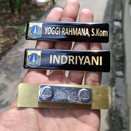 Foto Produk Nametag Nama Dada Magnet (Pengerjaan Cepat) - Tanpa Resin dari PradeshAdv